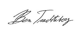 Ben Trachtenberg's signature